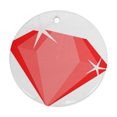 Ruby Round Ornament (Two Sides)