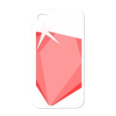 Ruby Apple iPhone 4 Case (White)