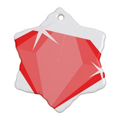 Ruby Snowflake Ornament (Two Sides)