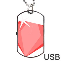 Ruby Dog Tag Usb Flash (one Side)