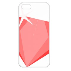 Ruby Apple iPhone 5 Seamless Case (White)