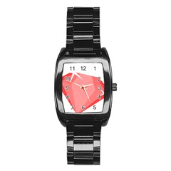Ruby Stainless Steel Barrel Watch