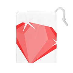 Ruby Drawstring Pouches (Large)