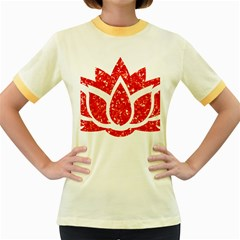 Ruby Lotus Women s Fitted Ringer T-Shirts