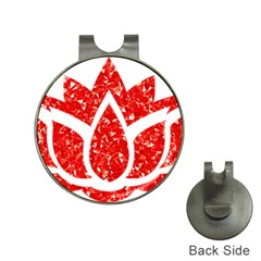 Ruby Lotus Hat Clips with Golf Markers