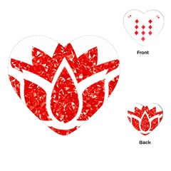 Ruby Lotus Playing Cards (heart)