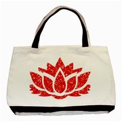 Ruby Lotus Basic Tote Bag