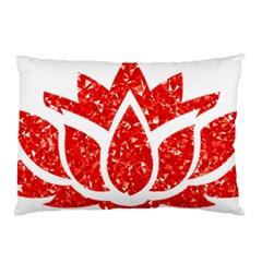 Ruby Lotus Pillow Case