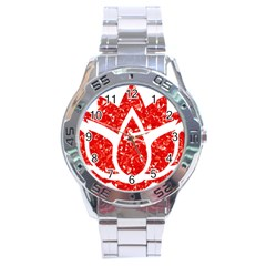 Ruby Lotus Stainless Steel Analogue Watch