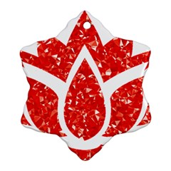 Ruby Lotus Ornament (Snowflake)