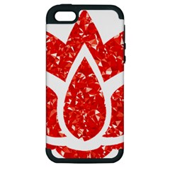 Ruby Lotus Apple iPhone 5 Hardshell Case (PC+Silicone)