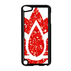 Ruby Lotus Apple iPod Touch 5 Case (Black)