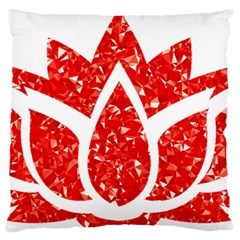 Ruby Lotus Standard Flano Cushion Case (Two Sides)