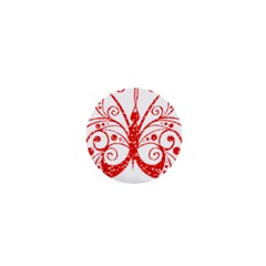 Ruby Butterfly 1  Mini Magnets