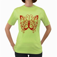 Ruby Butterfly Women s Green T Shirt