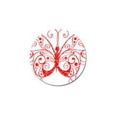 Ruby Butterfly Golf Ball Marker (4 pack)