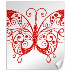 Ruby Butterfly Canvas 8  x 10