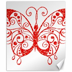 Ruby Butterfly Canvas 20  x 24