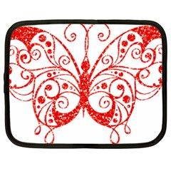 Ruby Butterfly Netbook Case (Large)