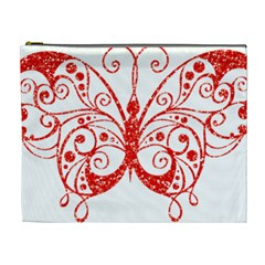 Ruby Butterfly Cosmetic Bag (XL)