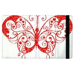 Ruby Butterfly Apple iPad 2 Flip Case