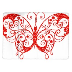 Ruby Butterfly Samsung Galaxy Tab 10.1  P7500 Flip Case