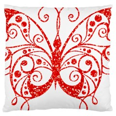 Ruby Butterfly Large Flano Cushion Case (Two Sides)