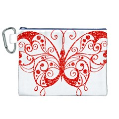 Ruby Butterfly Canvas Cosmetic Bag (XL)
