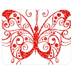 Ruby Butterfly Double Sided Flano Blanket (Medium)
