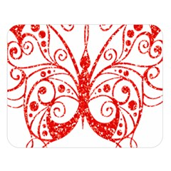 Ruby Butterfly Double Sided Flano Blanket (Large)