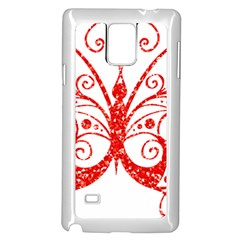 Ruby Butterfly Samsung Galaxy Note 4 Case (White)