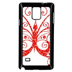 Ruby Butterfly Samsung Galaxy Note 4 Case (Black)