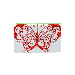 Ruby Butterfly Cosmetic Bag (XS)