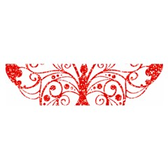 Ruby Butterfly Satin Scarf (Oblong)