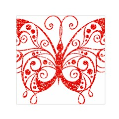 Ruby Butterfly Small Satin Scarf (Square)