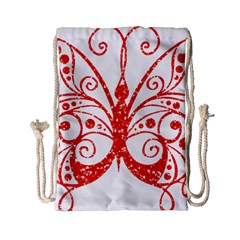 Ruby Butterfly Drawstring Bag (Small)
