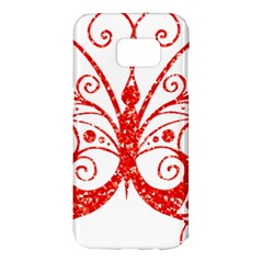 Ruby Butterfly Samsung Galaxy S7 Edge Hardshell Case