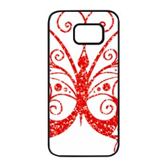Ruby Butterfly Samsung Galaxy S7 edge Black Seamless Case