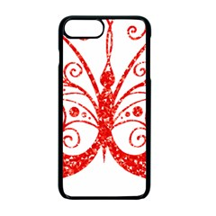 Ruby Butterfly Apple iPhone 7 Plus Seamless Case (Black)
