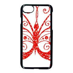 Ruby Butterfly Apple iPhone 7 Seamless Case (Black)