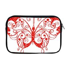 Ruby Butterfly Apple MacBook Pro 17  Zipper Case