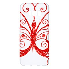 Ruby Butterfly Samsung Galaxy S8 Plus Hardshell Case