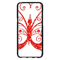 Ruby Butterfly Samsung Galaxy S8 Plus Black Seamless Case