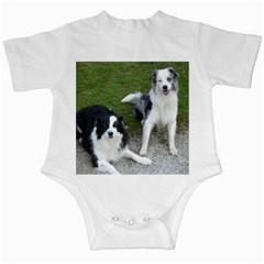 2 Border Collies Infant Creepers