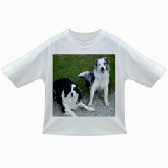 2 Border Collies Infant/Toddler T-Shirts