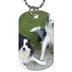 2 Border Collies Dog Tag (Two Sides)