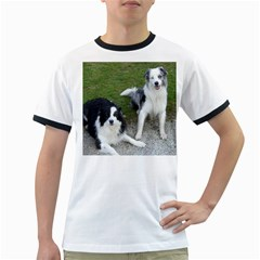 2 Border Collies Ringer T-Shirts