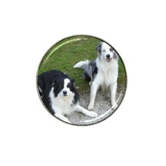 2 Border Collies Hat Clip Ball Marker (10 pack)