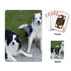 2 Border Collies Playing Card