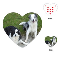 2 Border Collies Playing Cards (Heart)